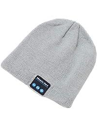 BESTOYARD Berretto con Cuffie Bluetooth a Maglia Cappello Musica Cappellino  con Altoparlanti Invernali Cappelli per Uomo 3acf93fb230a