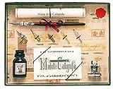 Coles Kalligraphie aus Holzfüller mit 5 Federn, Tinte und Haltersortiment entwickelt