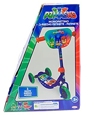 PJ Masks OPJM110 Kid's Three Wheel Tri Scooter with Adjustable Handlebar and Front Plate