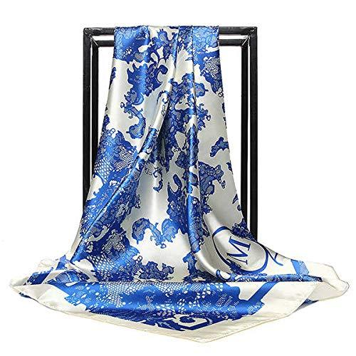 QYYDWJ 20 Colores Estampado Flores Bufanda Seda Mujer