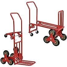 [in.tec]® Carro de transporte multifunción y carretilla 2 en 1 - rojo
