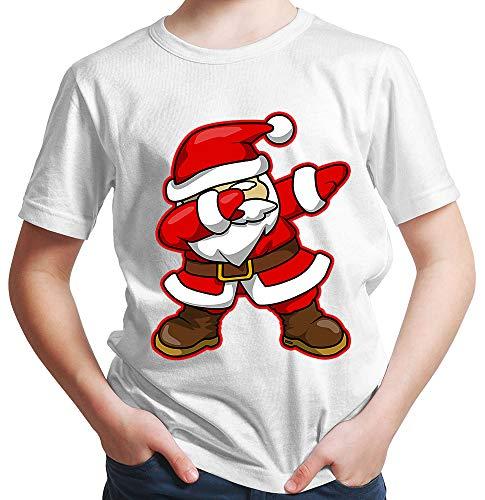 HARIZ  Jungen T-Shirt Dab Weihnachtsmann Nikolaus Weihnachten Dab Dabbing Trend Karneval Inkl. Geschenk Karte Rot 140/9-11 Jahre
