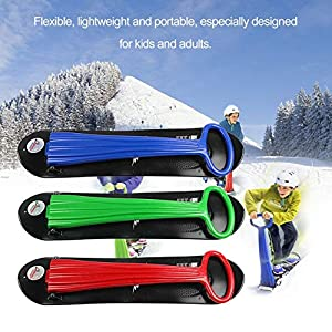 Qewsg Outdoor Portable Faltbare Kunststoff Freestyle Single Board Schnee Gras Sand Board
