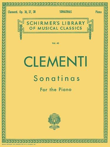 12 Sonatinas, Op. 36, 37, 38: Schirmer Library of Classics Volume 40 Piano Solo (Schirmer's Library of Musical Classics)