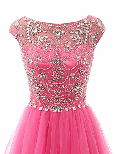 Promworld Damen A-Linie Kleid Hot Pink