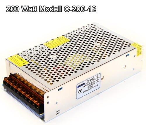 Preisvergleich Produktbild 200 Watt 12V DC LED Leisten TRAFO Transformator Netzteil von Phil Trade
