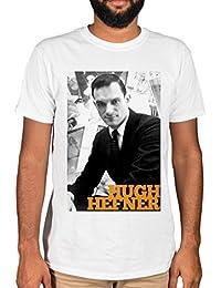 Ulterior Clothing Hugh Hefner Black and White Portrait Graphic T-Shirt