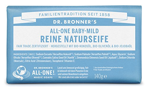 Dr Bronner's Baby Unscented Pure-Castile Bar Soap 140 gr
