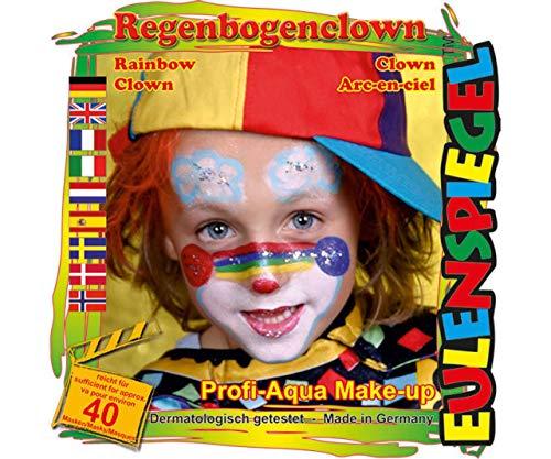 Für Face - Regenbogen-Clown, Eulenspiegel, EU-204368 ()