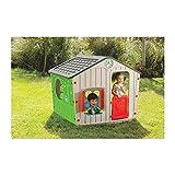 Kinder Spielhaus Galilee Village Kunststoff von Starplast Farbkombination grau rot grün Mega gross