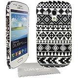 StyleBitz étui vintage et tribal pour Samsung Galaxy S3 Mini et S III et i8190 avec protecteur d'écran et tissu de nettoyage (noir et blanc)