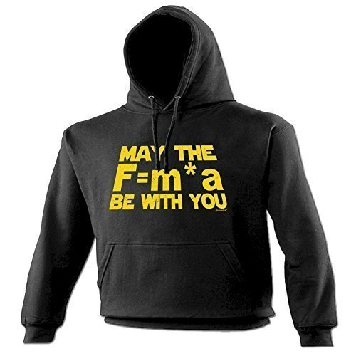 123t Unisex NEWTON'S MAY THE F=M*A BE WITH YOU Hooded Sweatshirt