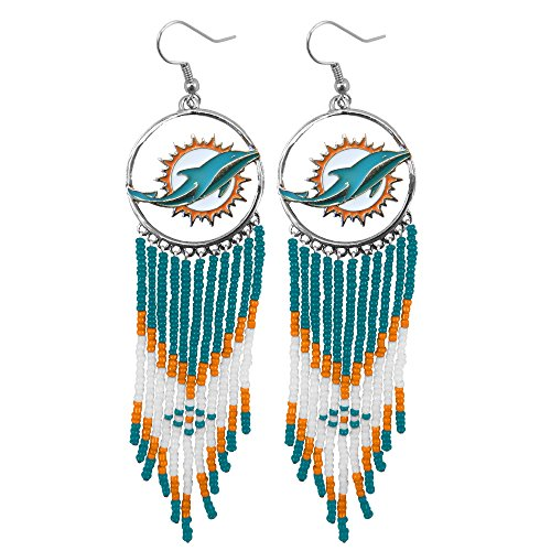 nfl-miami-dolphins-dreamcatcher-earring