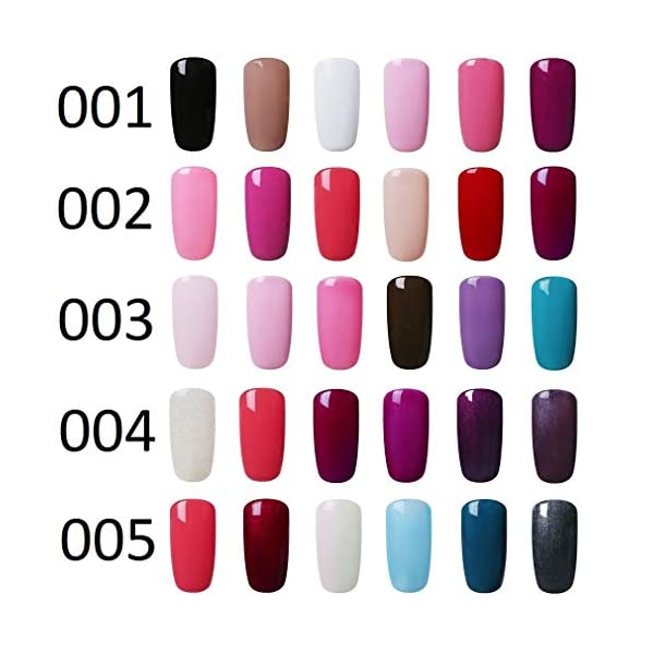 Elite99 Esmaltes Semipermanentes de Uñas en Gel UV LED, 6pcs Kit de Esmaltes de Uñas en Gel Soak Off 005