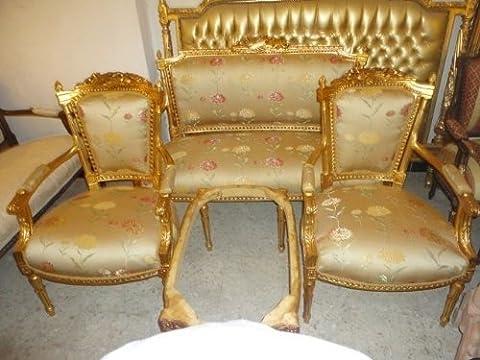 style ancien style baroque salon 4 chaises 1 canapé