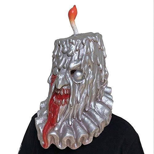 QWhing Festival-Maske Halloween Kerze Mann Schädel Maske