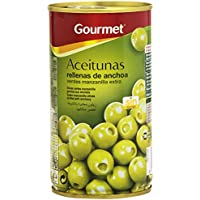 Gourmet Aceitunas Rellenas de anchoa, Verdes Manzanilla - 150 g
