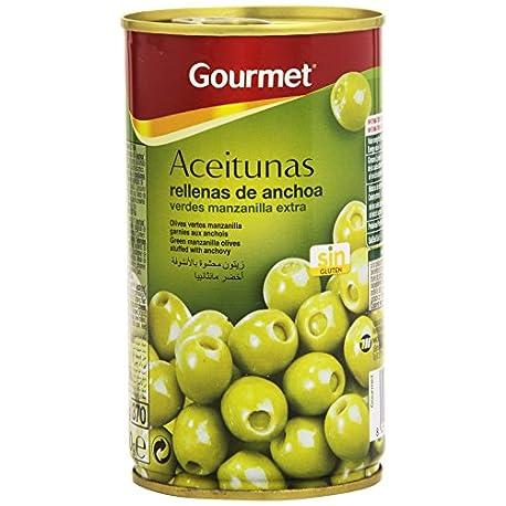 Gourmet Aceitunas Rellenas de anchoa Verdes Manzanilla 150 g