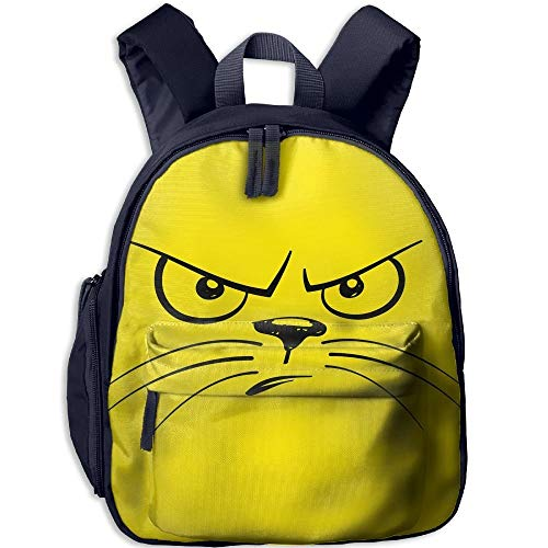 Angry Cat's Expression Toddler Kids Pre School Bag Cute 3D Print Children School Backpack