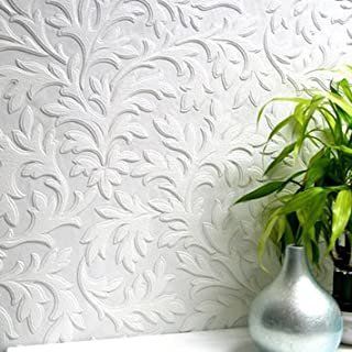 Anaglypta High Leaf Wallpaper - RD80026