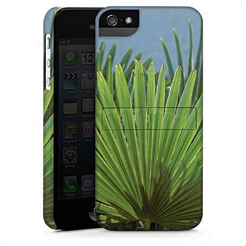 Apple iPhone X Silikon Hülle Case Schutzhülle Palme Blatt Palmenwedel Premium Case StandUp