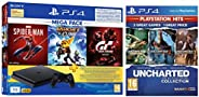PS4 1TB Slim Bundled with Spider-Man, GTaSport, Ratchet & Clank And PSN 3Month&Uncharted Collection Hi