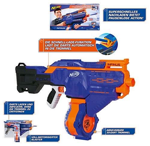Hasbro E0438EU4 - N-Strike Elite Infinus Spielzeugblaster, mit automatischem Dart-Loader - 11