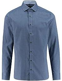 azzurra Uomo it Amazon camicia Abbigliamento TwUEZ