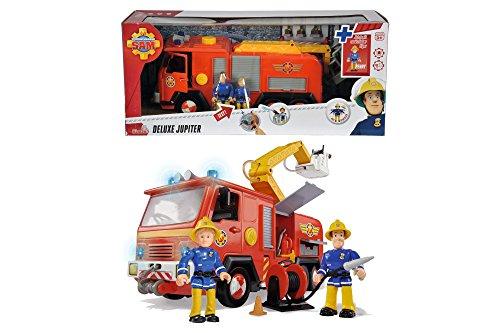- 51SZOkPWCOL - Simba 109257661 – Feuerwehrmann Sam Jupiter Feuerwehrauto mit 2 Figuren, 28 cm