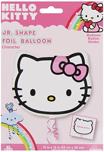 Luftballon in Form eines Hello Kitty-Kopfes, 18 Stück (Hello Kitty Ballons)