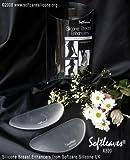 softleaves® X300Silikon Brust Enhancer Stilleinlagen in die weiß Flesh Farbe