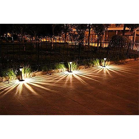 LIZH LED in acciaio inox doppio scopo paesaggio percorso percorso luci luce prato giardino lampada esterna impermeabile sicurezza 2PCS