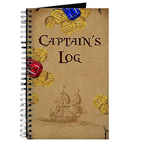 CafePress - Captain's Log - Spiral Bound Journal Notebook, Personal Diary, Lined