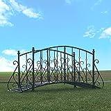 chemin_de_campagne Grand Bront Passerelle Eisen Metal Jardin Reich 250 cm