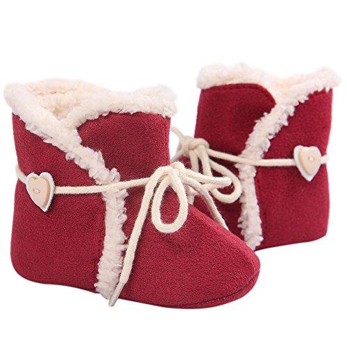 Fire Frog  Snow Boots,  Baby Mädchen Schneestiefel Rot