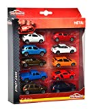 Majorette 212053240 - Square Pack 10 Cars, Maßstab 1:64, 7,5 cm