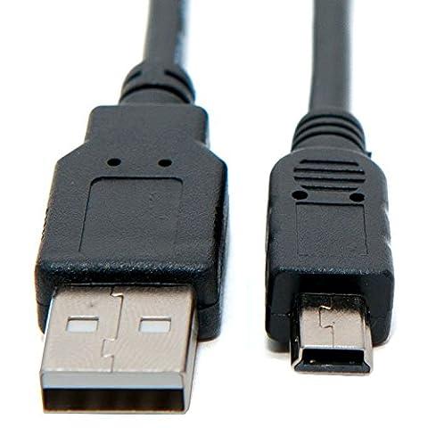 Keple Mini USB Daten-Sync & Foto Image Transfer-Kabel für Canon Powershot ELPH Serie: ELPH 350HS/ELPH 100HS/ELPH 110HS/ELPH 115IS/ELPH 120IS/ELPH 130IS/ELPH 310HS/ELPH 320HS/ELPH 330HS/ELPH 510HS/ELPH 520HS/ELPH 530HS