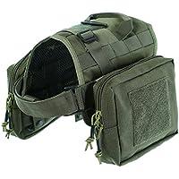 Yisibo addestramento per cani con Molle Tactical-Gilet in Nylon, cinghie Kit-Giubbotto per cani e animali domestici, con 2 astucci