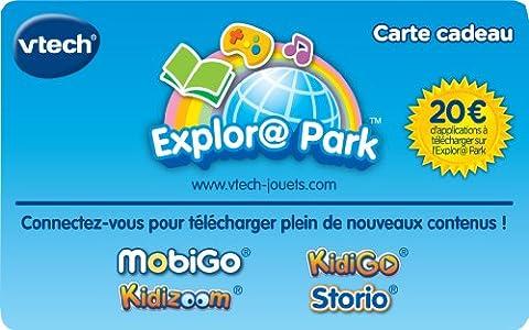 Vtech - 201505 - Jeu Électronique - Carte Cadeau Explora Park - 20 euros d'applis