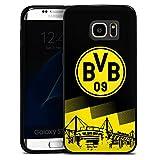DeinDesign Samsung Galaxy S7 Edge Slim Case schwarz Silikon Hülle Schutzhülle BVB Logo Borussia Dortmund