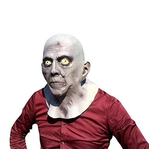 Alter Man Zombie old man Maske mask Kopf aus sehr hochwertigen Latex Material mit Öffnungen an Augen Halloween Karneval Fasching Kostüm Verkleidung für Erwachsene Männer und Frauen Damen Herren gruselig Grusel Zombie Monster Dämon Horror Party Party