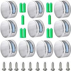 Stil 1 12 St/ück Klemmbefestigung Spiegelclip Mehrzweckrunde Wandhalterung Inklusive Expansionsrohr und Schrauben