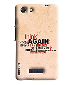 Omnam Motivational Quote Printed Designer Back Cover Case For Micromax Unite 3