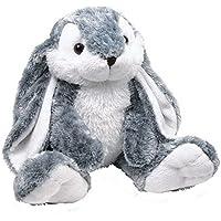 Kuscheltier Hase mit flauschigem Fell aus Plüsch ein perfektes Ostergeschenk, mit niedlichen Knopfaugen ein treuer Begleiter von Geburt an