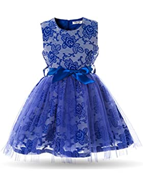 Cielarko Vestido Elegante Princesa sin Mangas de Niñas Fiesta