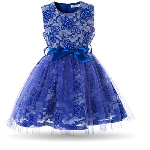 CIELARKO Mädchen Kleider Festlich Blumen Tüll Weihnachten Hochzeits Prinzessin Kleidung