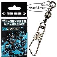 Angel-Berger Tönnchenwirbel mit Karabiner 10 Stück Wirbel