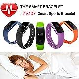 FANCY CHERRY® Bluetooth Smart Armband, Schrittzähler, Fitnessarmband mit Herzfrequenzmesser, Fernbedienungskamera, Schlafanalyse (Blue) - 7