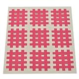 Kinseologie Gittertape 2,7 cm x 2,1 cm 10 Bögen in Pink, Cross Patches, Cross Tape