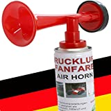 2 x Fanfare Druckluftfanfaren Gashupe Hupe Tröte Gashorn Stadion Hupe Air Horn - Trend-Time ® - Versand als DHL Paket